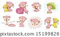 羊駝 卡通人物 鬆弛 15199826