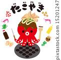 takoyaki, vector, vectors 15201247