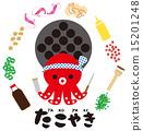 takoyaki, vector, vectors 15201248