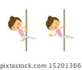 exercise, pole dance, vector 15201366