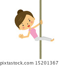 exercise, pole dance, vector 15201367