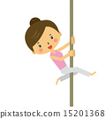 exercise, pole dance, vector 15201368