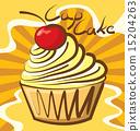 Vector Cupcake 15204263