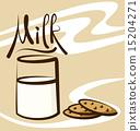 Vector Milk 15204271