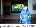 A woman in a yukata 15213905