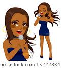African American Pop Singer Woman 15222834