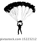 Parachutist Jumper in the helmet after the jump. 15223212