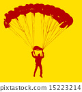 Parachutist Jumper in the helmet after the jump.  15223214