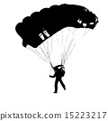 Parachutist Jumper in the helmet after the jump. 15223217