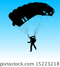 Parachutist Jumper in the helmet after the jump. 15223218