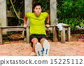 Guy working out in the park 15225112