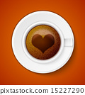 Cup of coffee with heart 15227290