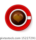 Cup of coffee with heart 15227291