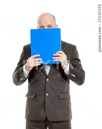 business man with blue folder 15230359