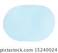透明水彩(橢圓形·藍色) 15240024