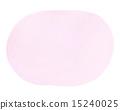 透明水彩(橢圓形·粉紅色) 15240025