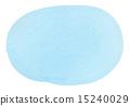 透明水彩(橢圓形·藍色) 15240029