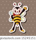 蜜蜂 插圖 可愛 15245151