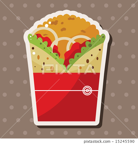 chicken wrap, illustration, fried 15245590