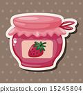 插圖 罐 草莓 15245804