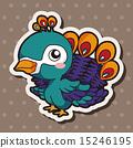 孔雀 插图 动物 15246195