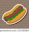 fastfood, sausage, sandwich 15248980