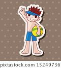 插圖 游泳 男性 15249736