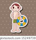插圖 游泳 男性 15249739