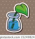 잎, 아이콘, 꽃병 15249824