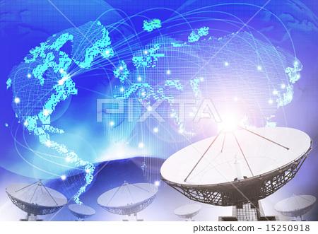 satellite dish with blue theme 15250918