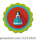 Princess flat icon with long shadow 15253920