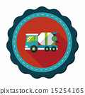Transportation Cement mixer flat icon with long shadow,eps10 15254165