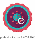 virus flat icon with long shadow 15254167