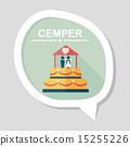 wedding cake flat icon with long shadow,eps10 15255226