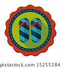 flip flop flat icon with long shadow,eps10 15255284
