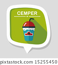 frappucino flat icon with long shadow,eps10 15255450
