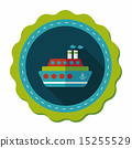 Transportation ferry flat icon with long shadow,eps10 15255529