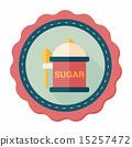 설탕, 아이콘, 평면 15257472
