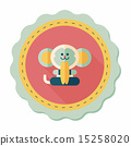 monkey toy flat icon with long shadow,eps10 15258020