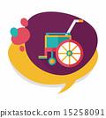輪椅 影子 單調 15258091