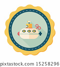潜水艇 图标 单调 15258296