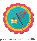 butterfly net flat icon with long shadow,eps10 15259060