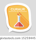 test tube flat icon with long shadow ,eps10 15259445