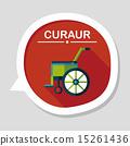輪椅 影子 單調 15261436