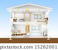 剖面圖 家 獨立式住宅 15262001