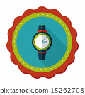 Wristwatch flat icon with long shadow 15262708