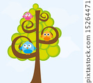 vector, tree, sky 15264471