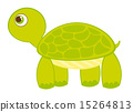 vector, turtle, isolated 15264813