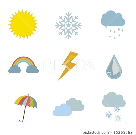 weather icons over white background vector illustration 15265568