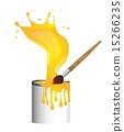 刷子 黄色 绘画 15266235